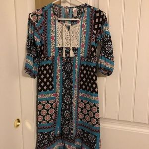 Justice high-low dress, size 12, worn once